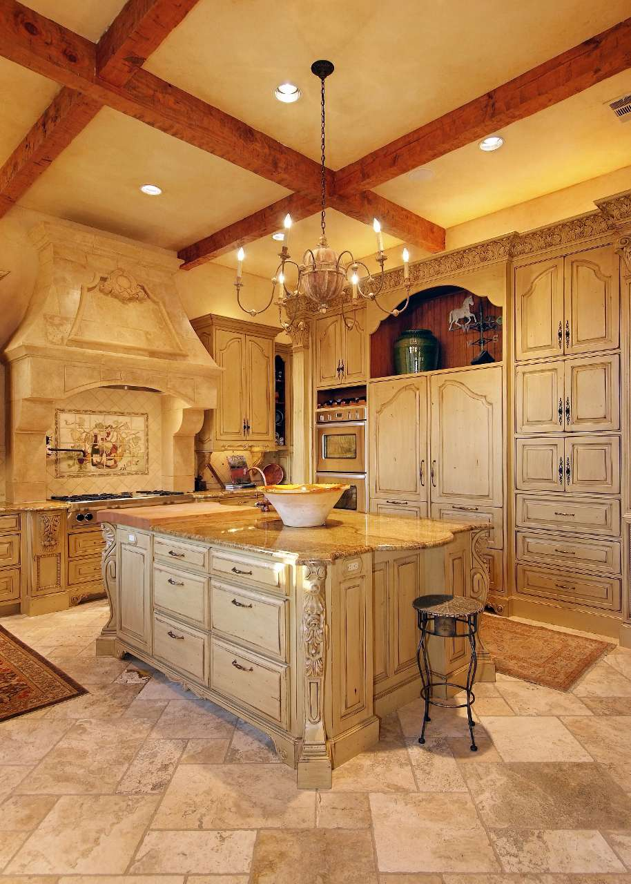 Antique White French Country Kitchens Gallery