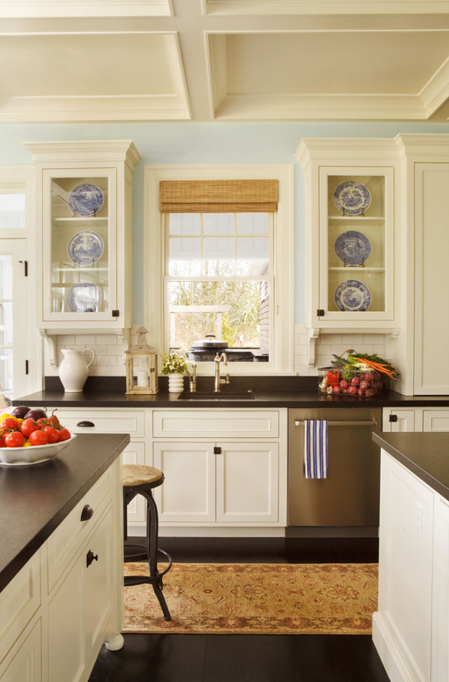 Benjamin Moore Kitchen Color with White Cabinets