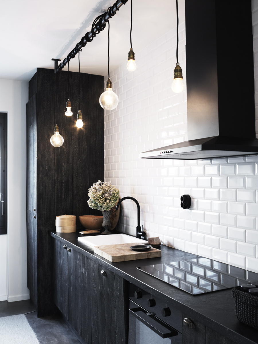 Black Kitchen Industrial Light