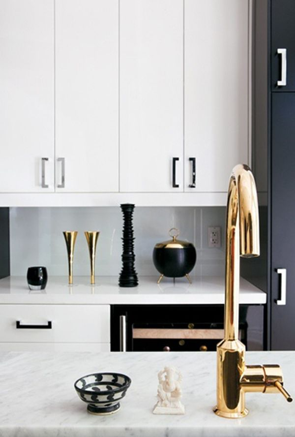 Black White and Gold Kitchen Decor