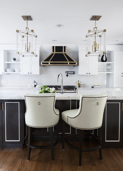 Black and White Kitchen Stools
