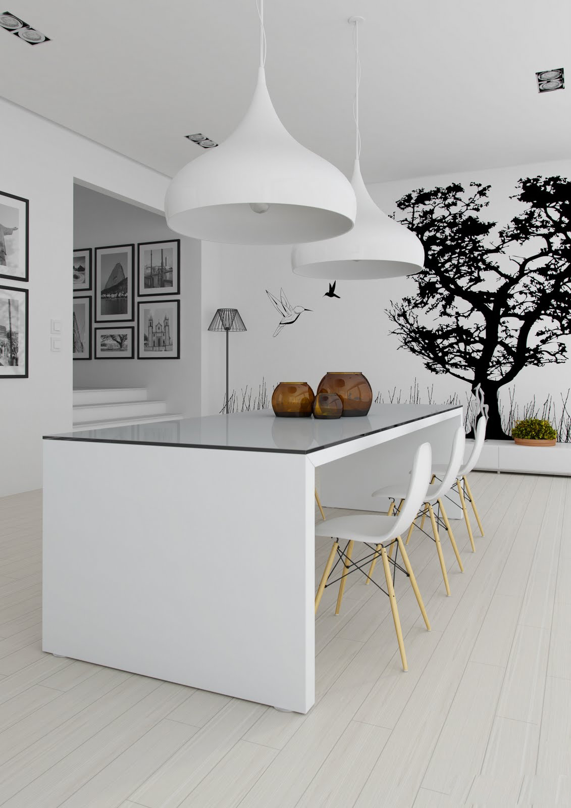Black and White Kitchen Wall Decor