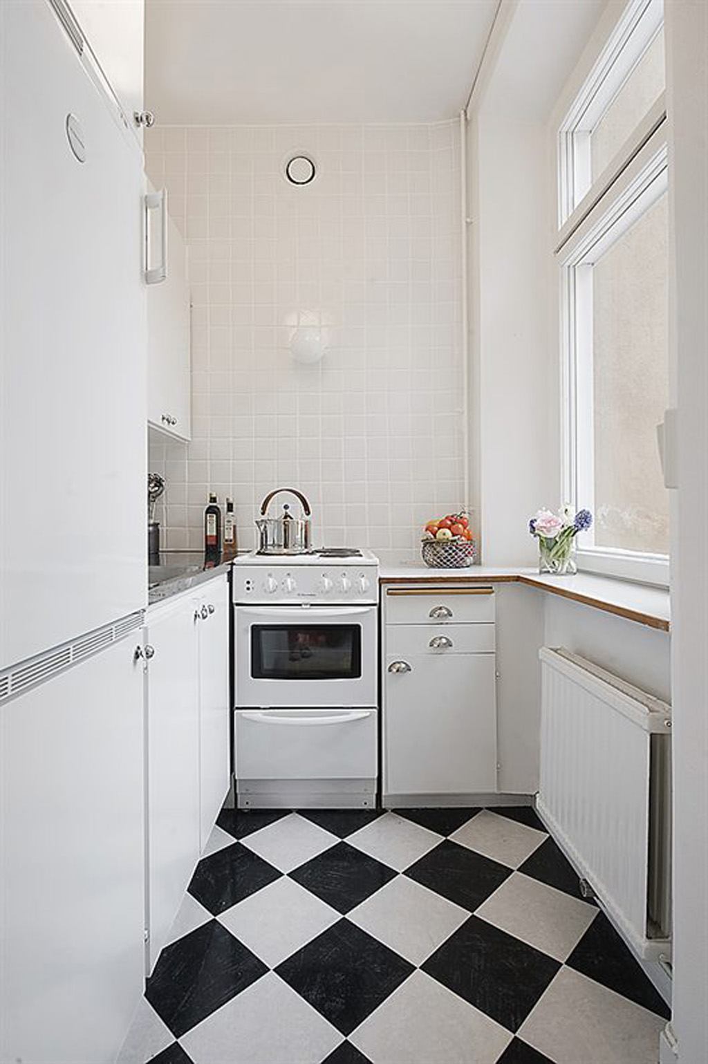 Black and White Small Kitchen