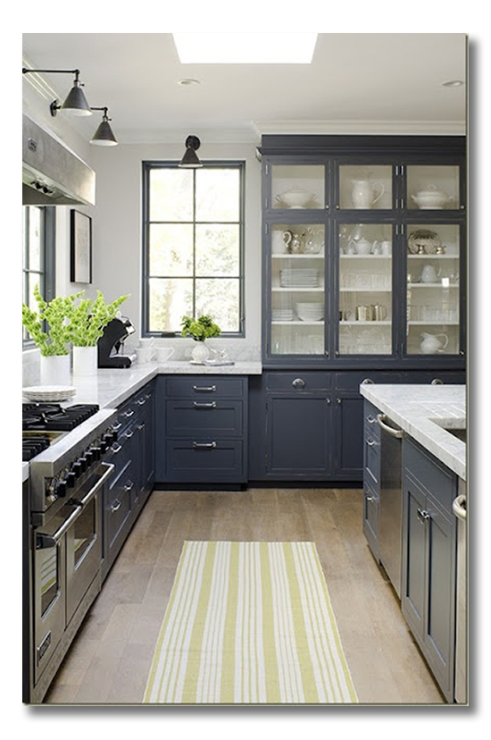 Blue Gray Kitchen Cabinets
