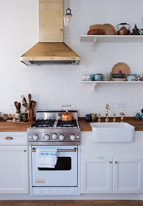 Brass Accents Kitchen
