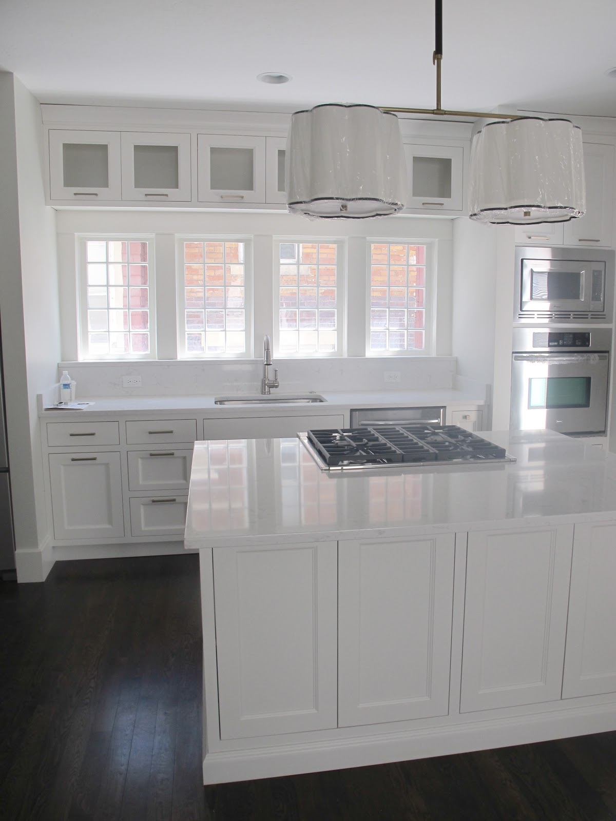 Cambria Quartz Countertop with White Cabinets
