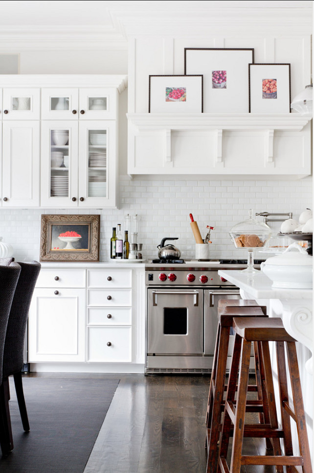 Classic White Subway Tile Kitchen Backsplash