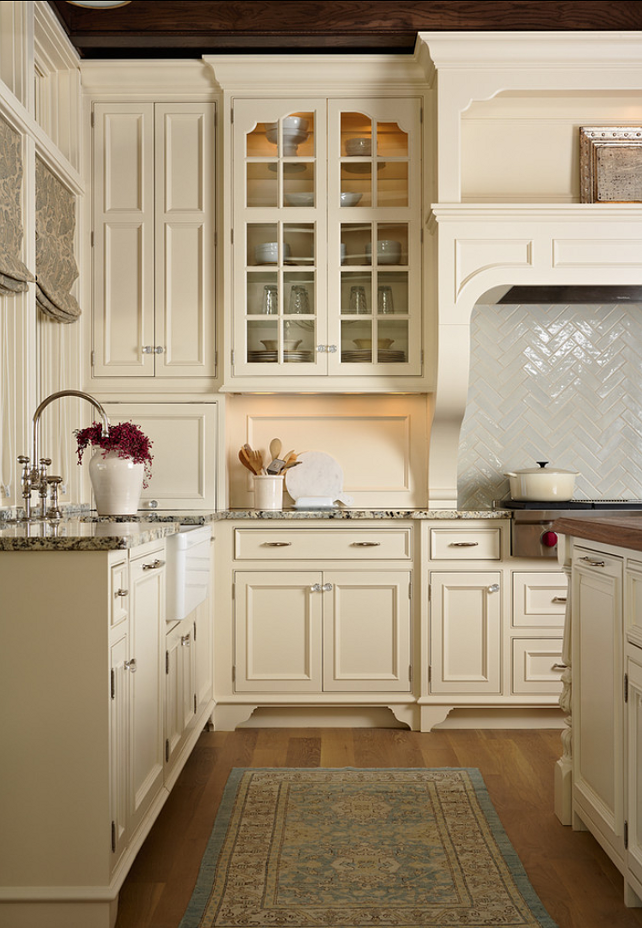 Creamy White Country Kitchen