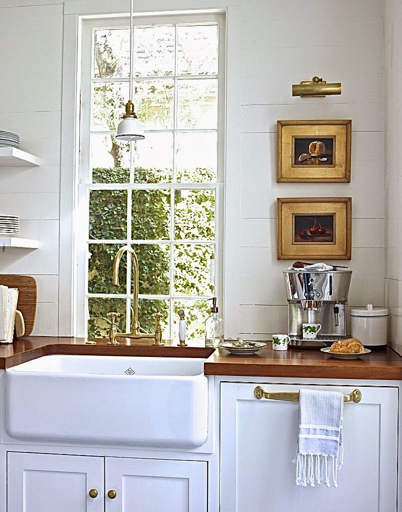 Farmhouse Kitchen Sink with Butcher Block Counter