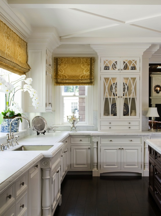 Floors and White Kitchens with Peninsula's