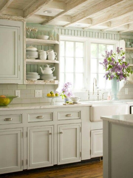 French Country Cottage Style Kitchen
