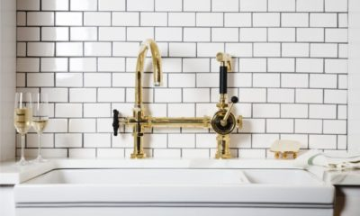 34 Best White Kitchen with Gold