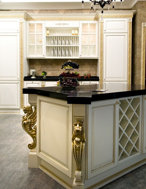 Gold White Kitchen Cabinets