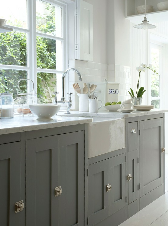 Grey Painted Cabinets