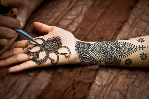 Henna tattoo ideas with images 10