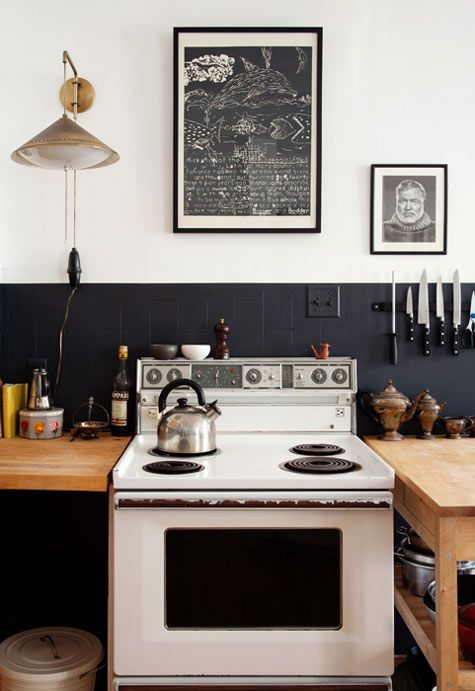 Kitchen Backsplash with Black