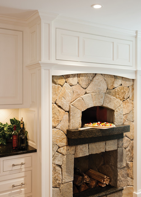 Kitchen Fireplace Pizza Oven