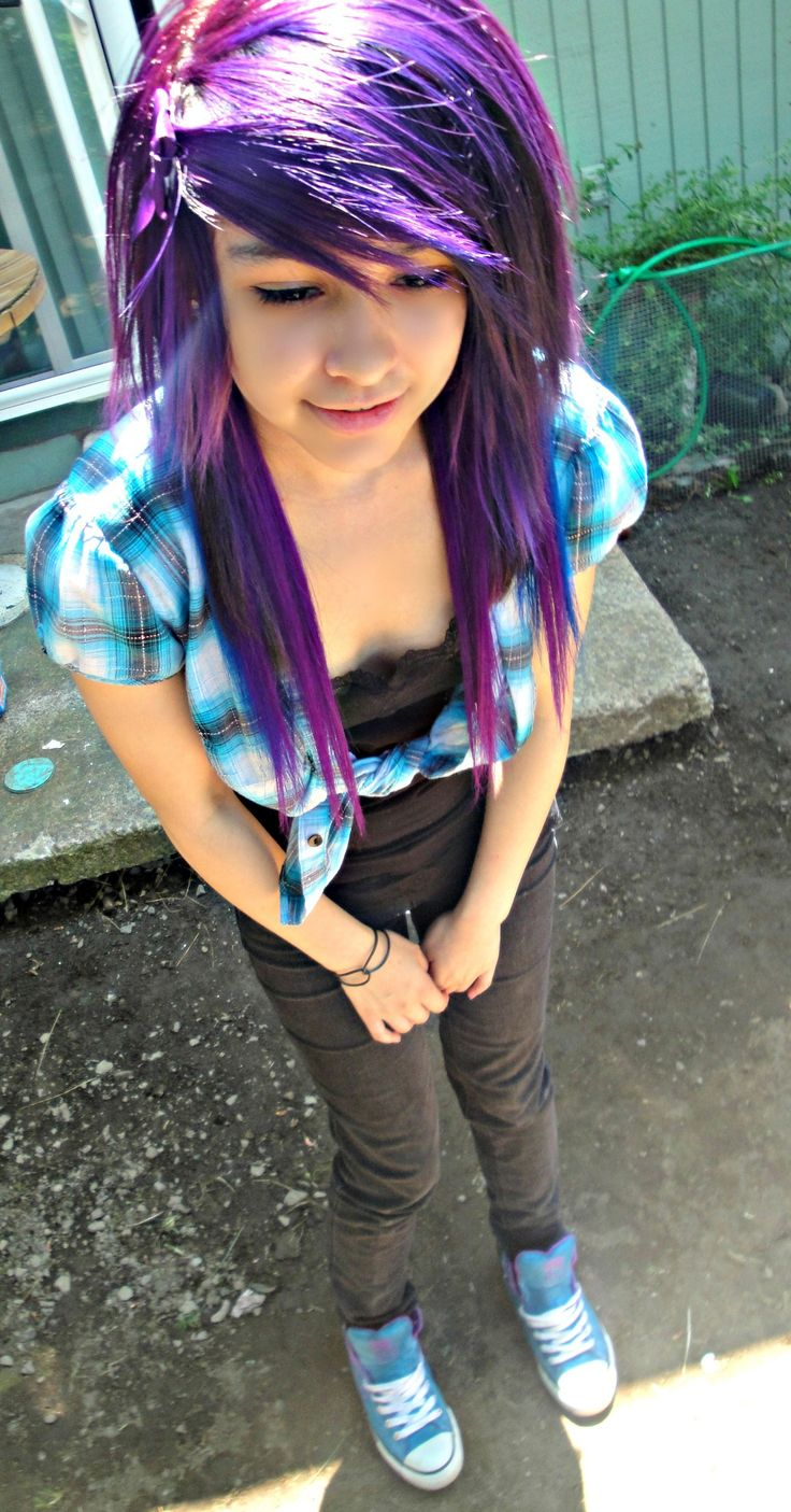 New Colourful Hairstyles for girls 12