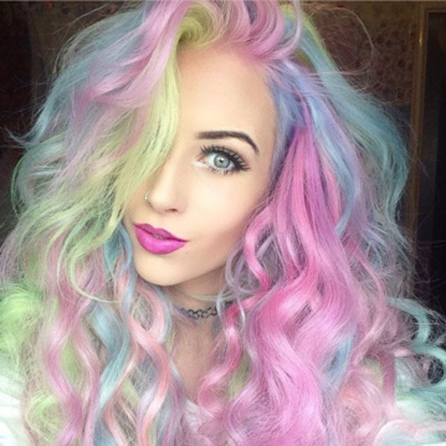 New Colourful Hairstyles for girls 13