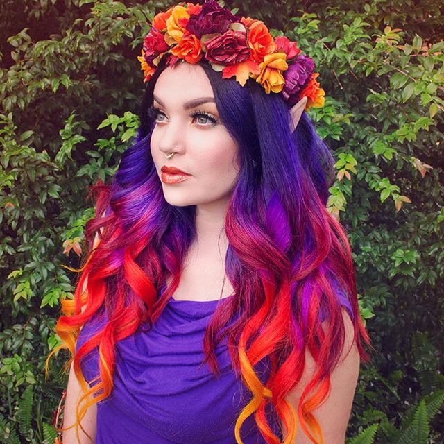 New Colourful Hairstyles for girls 18