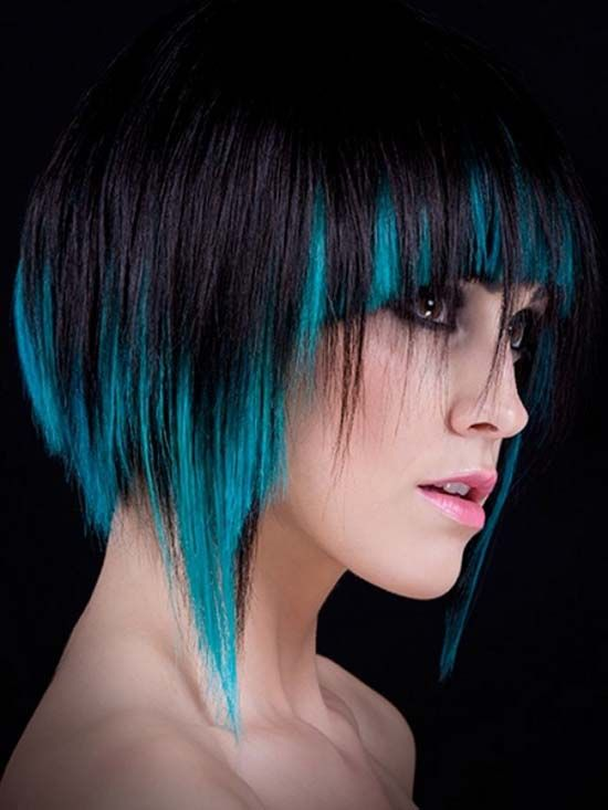 New Colourful Hairstyles for girls 19