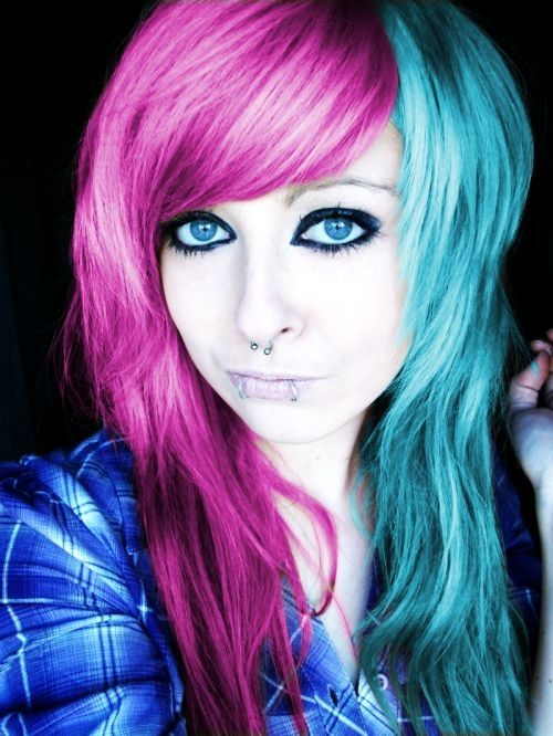 New Colourful Hairstyles for girls 2