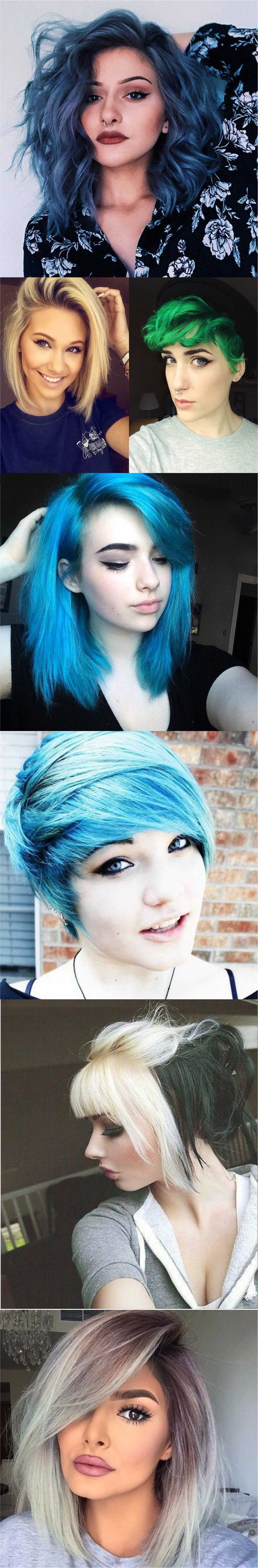 New Colourful Hairstyles for girls 2018