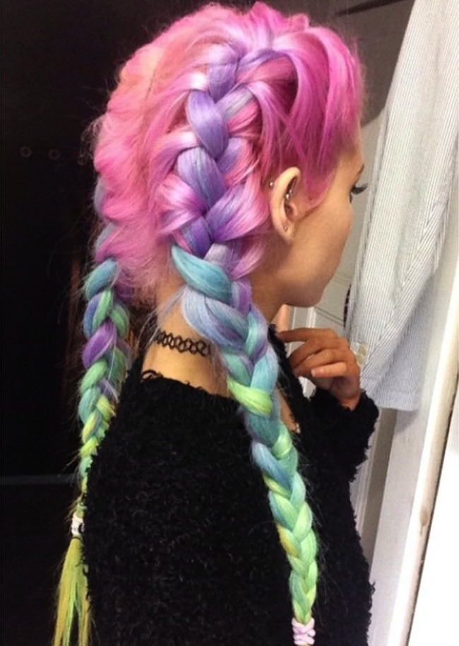 New Colourful Hairstyles for girls 9