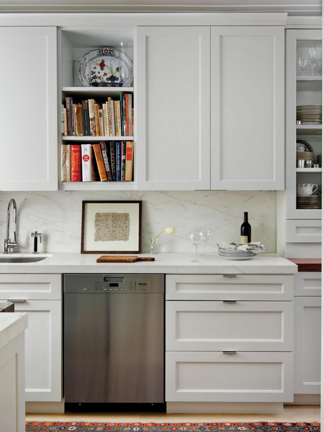 Open Kitchen Cabinets with Shelves