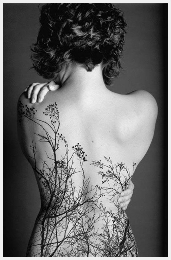 Sexy back tattoos for women tree