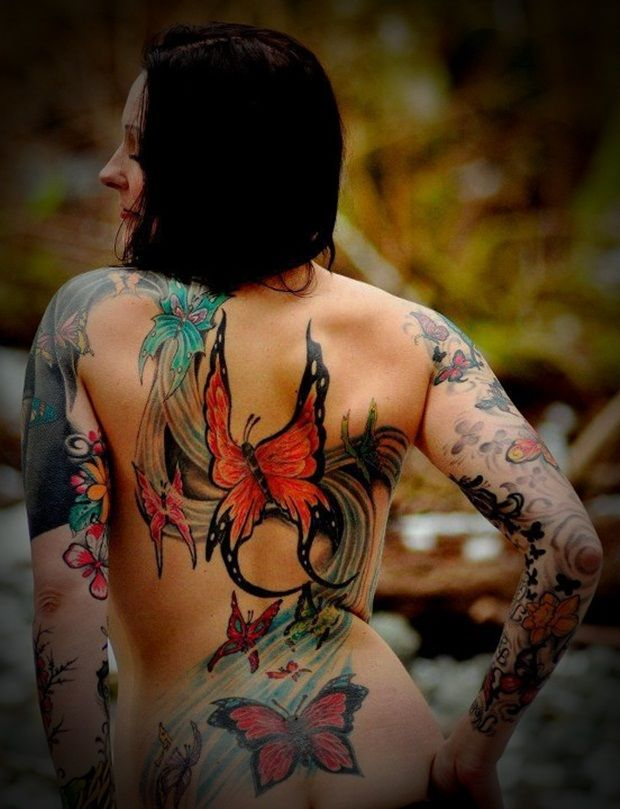 Sexy Back Tattoos for Girls 29