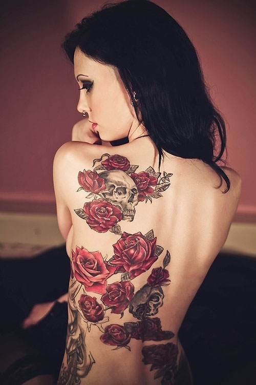 Sexy Back Tattoos for Girls 6