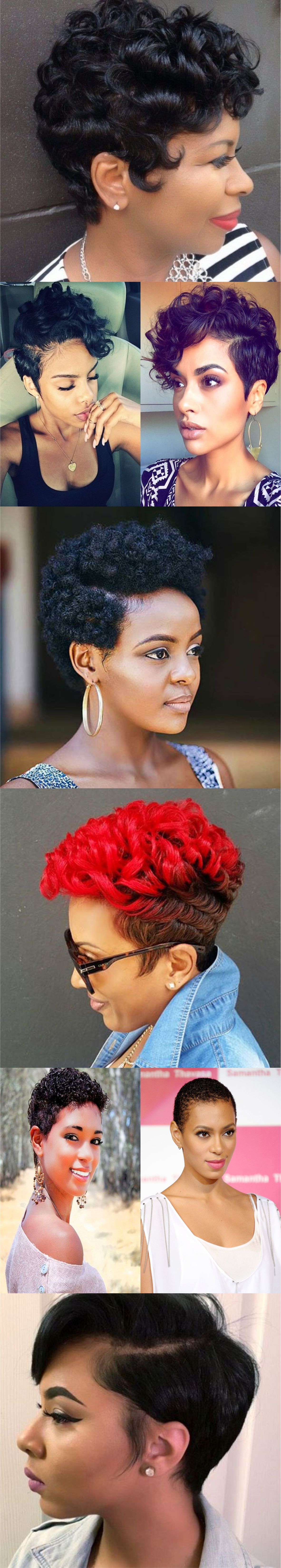 Short hairstyles for black women 2018