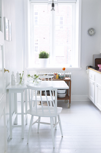 Small White Kitchen Table