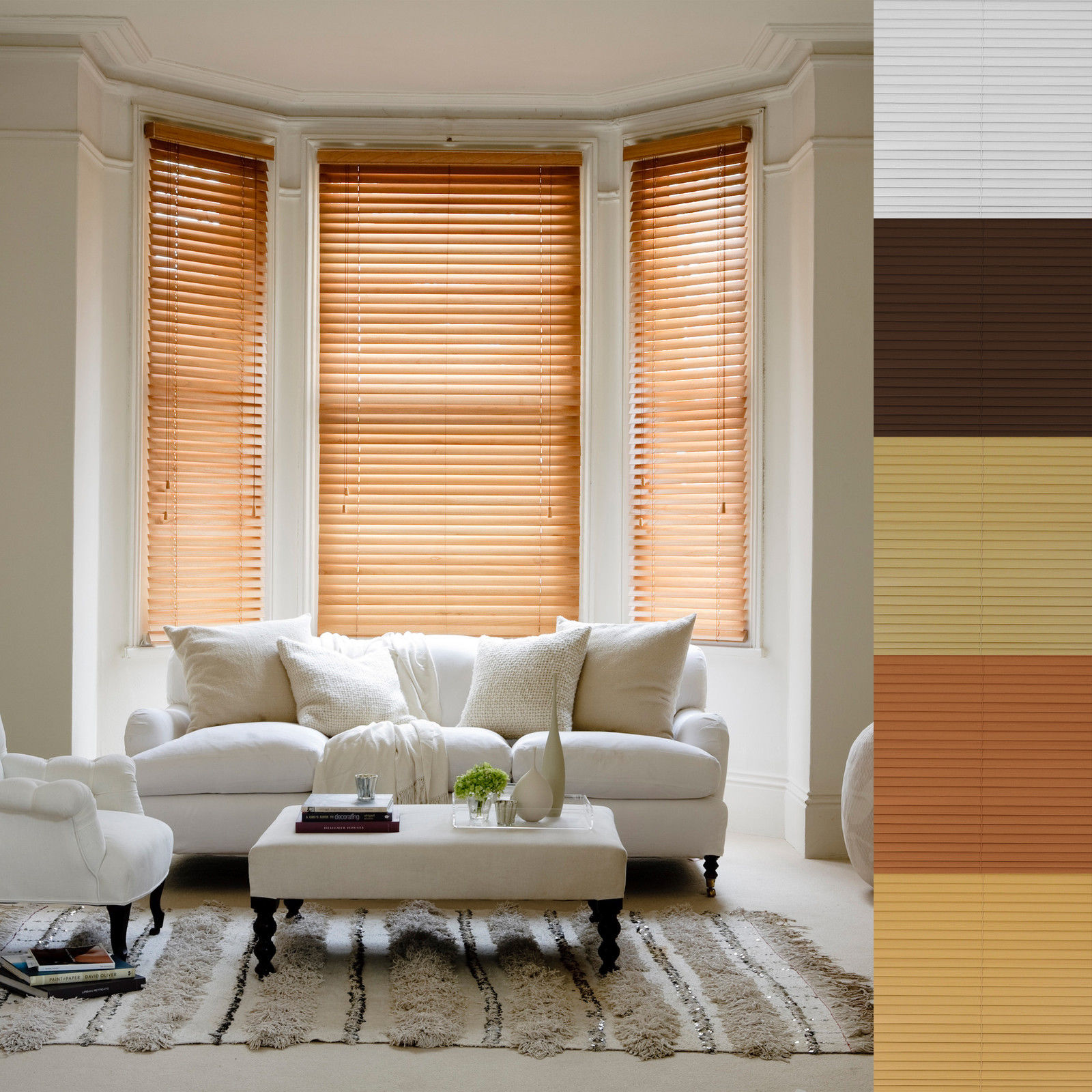 Stylish wooden blinds ideas 10