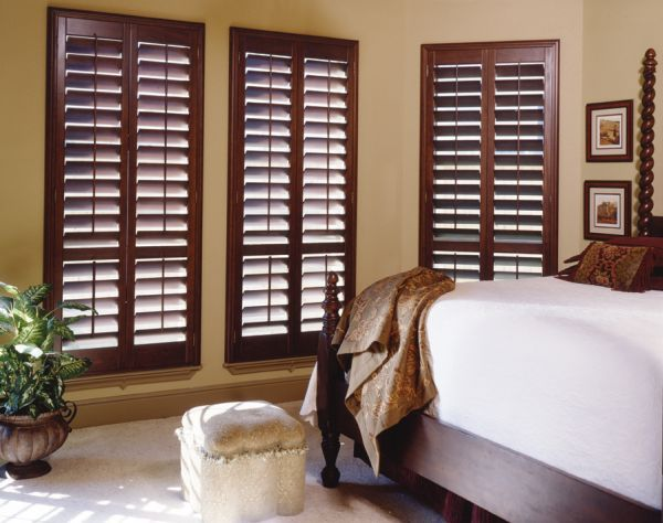 Stylish wooden blinds ideas 13