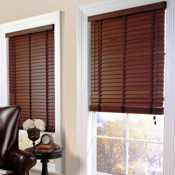 Stylish wooden blinds ideas 2