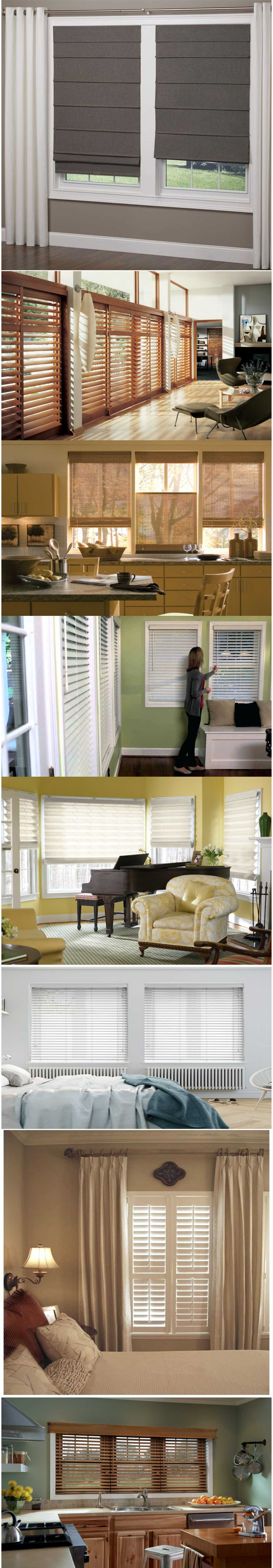 Stylish wooden blinds ideas 2018