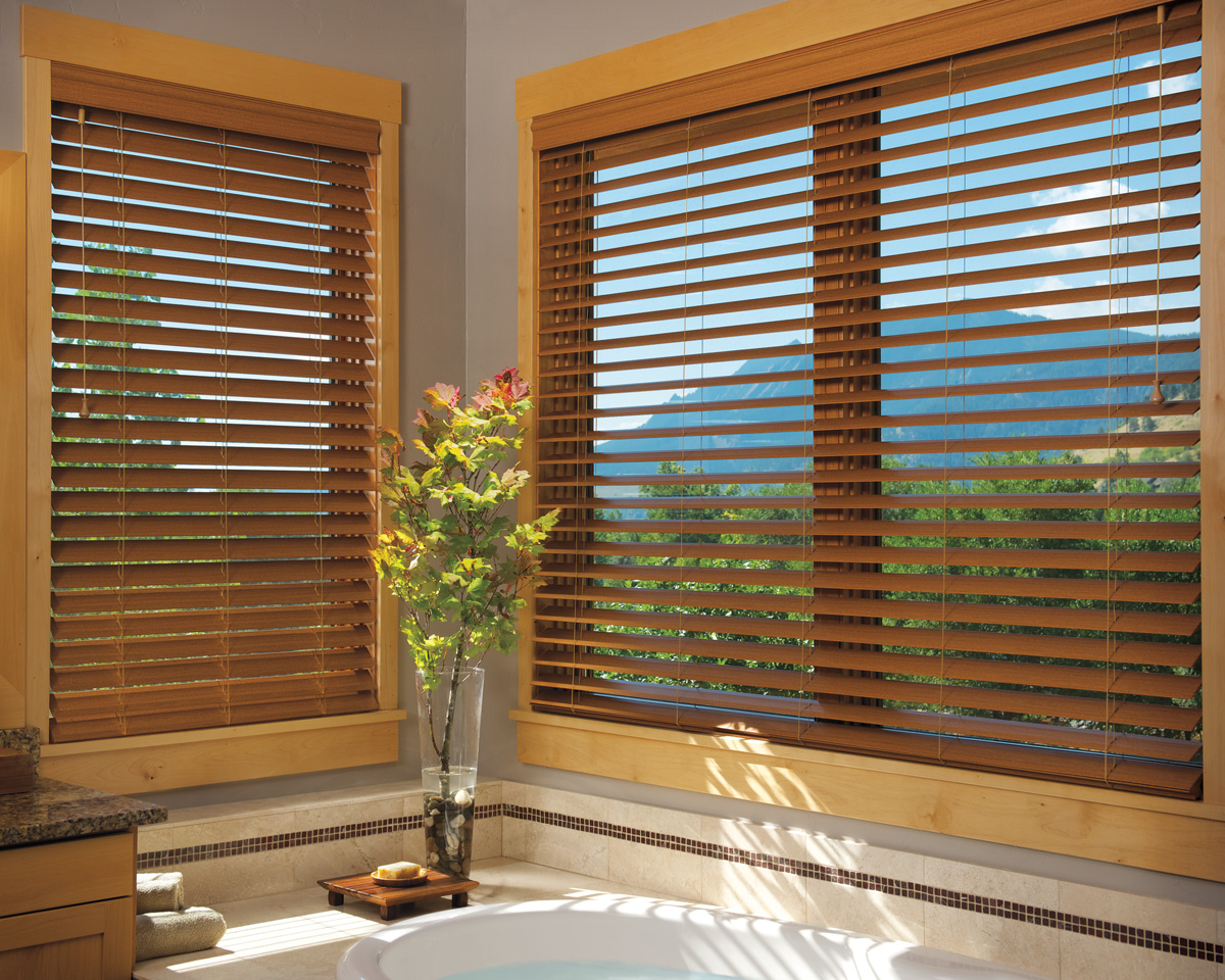 Stylish wooden blinds ideas 24