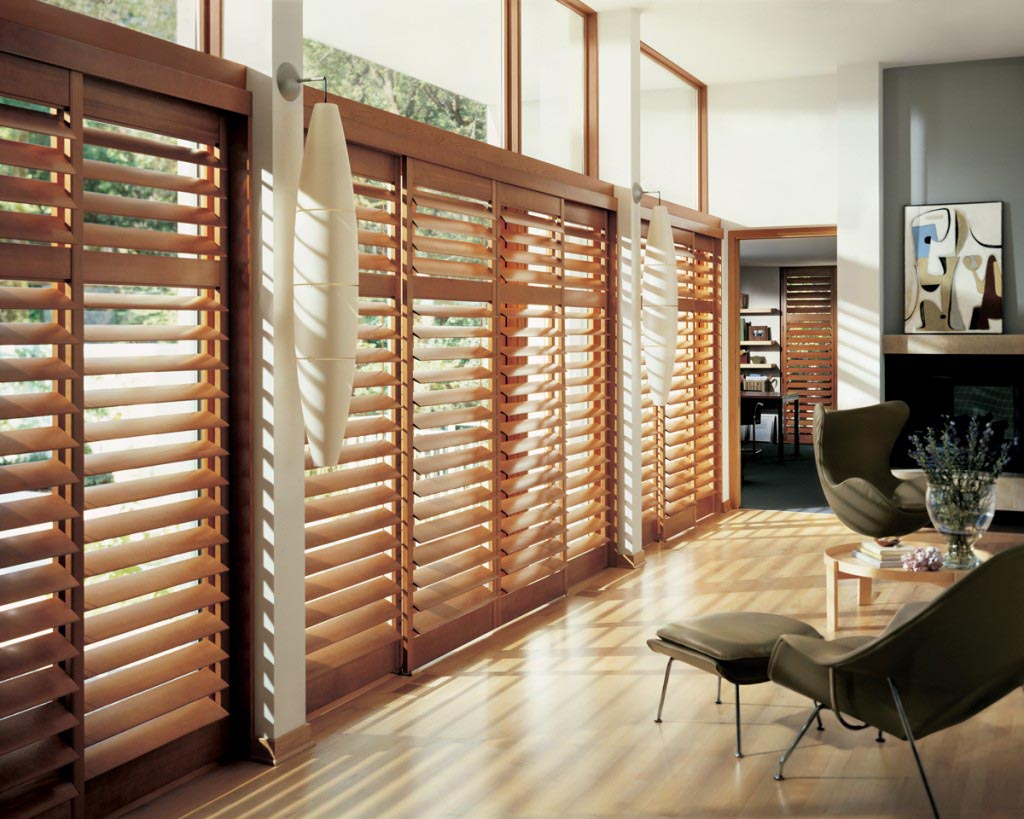 Stylish wooden blinds ideas 4