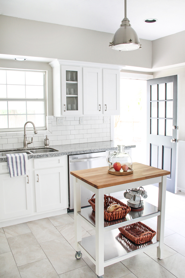 White Kitchen Back Doors