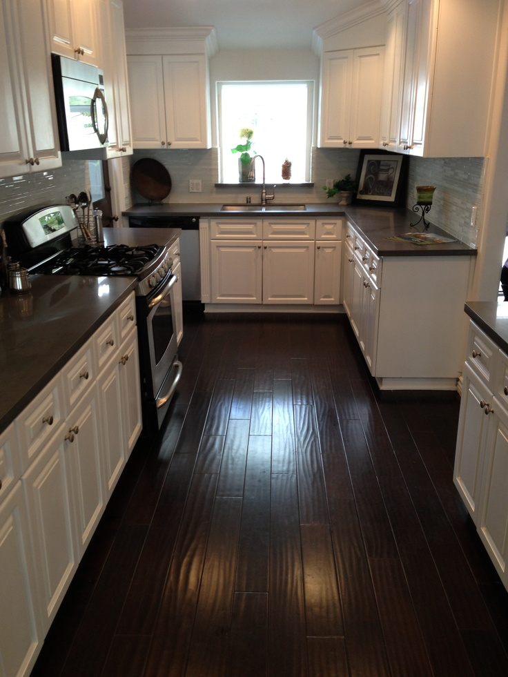 kitchen cabinets with dark floors 31 white kitchen with floors 21406
