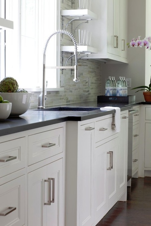 White Kitchen Cabinets with Inset