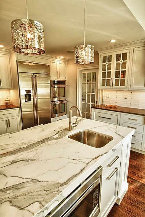 White Kitchen Counter Top