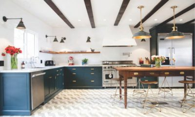 White Kitchen with Brass