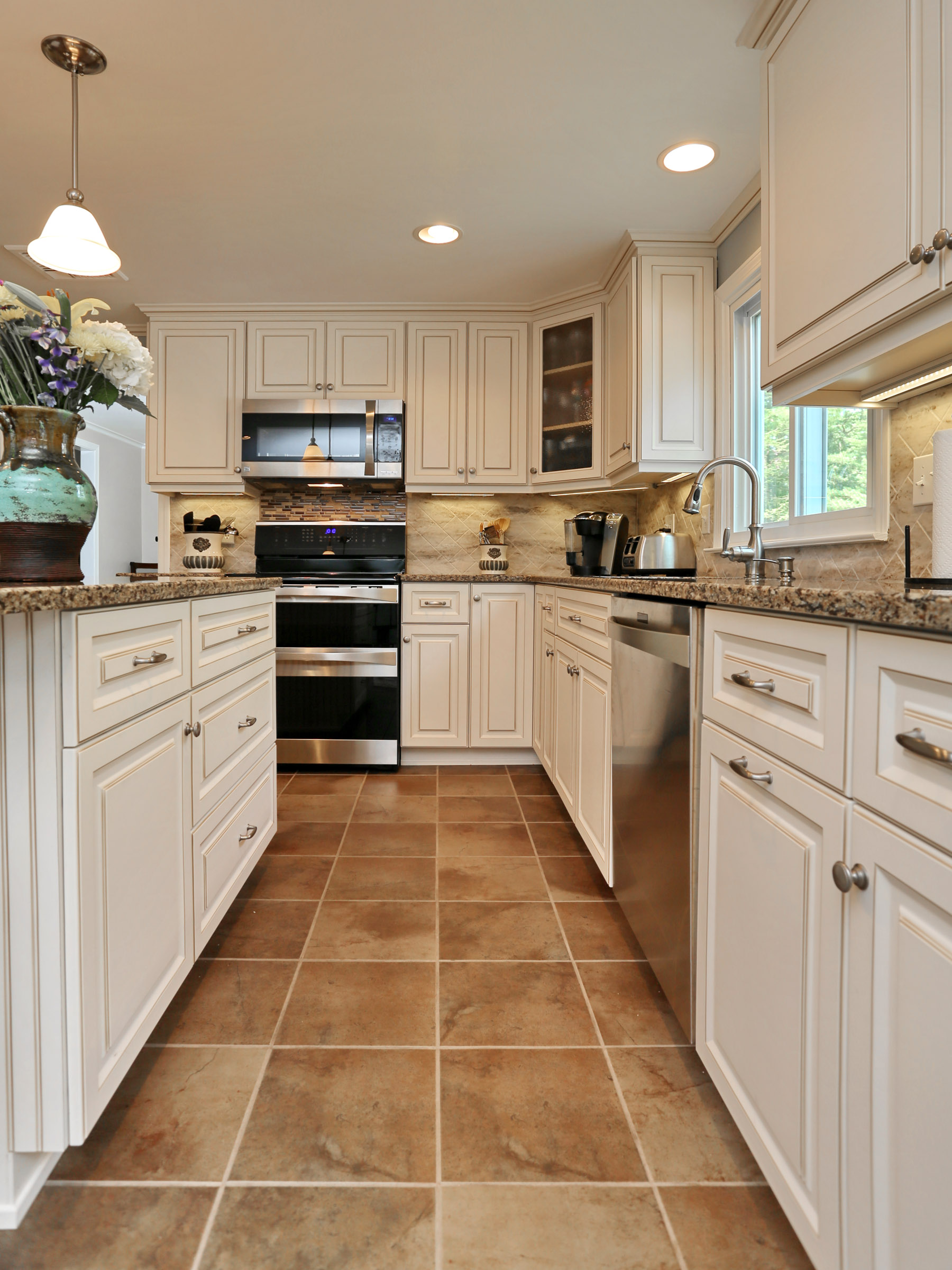 White Kitchen with Cambria Quartz Countertop