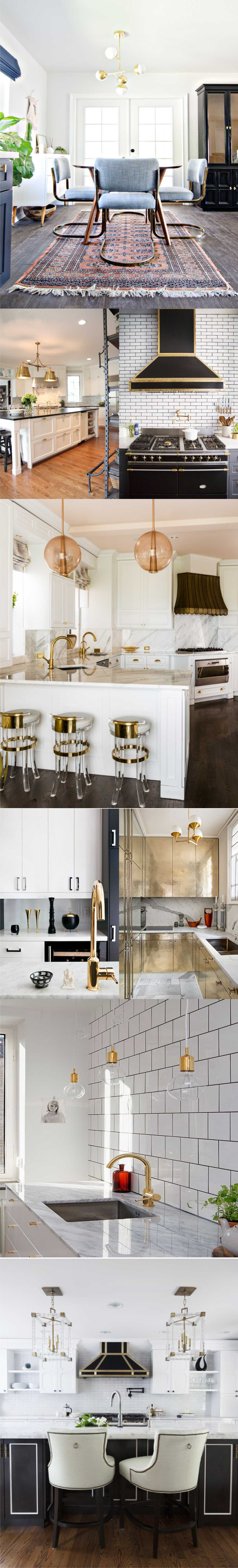 White Kitchen with Gold
