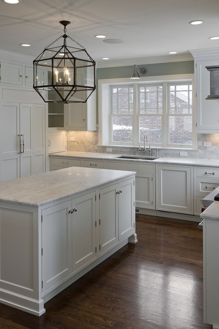 White Kitchen with Silver Knobs