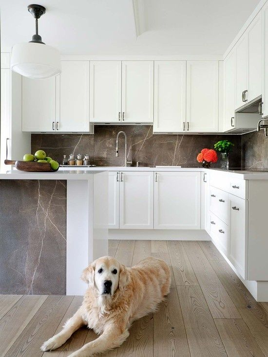 White Kitchen with Soapstone