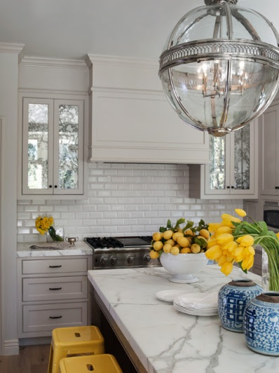 White Kitchen with Yellow